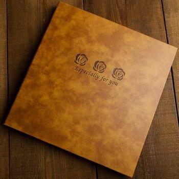 Vintage leather DIY album book hand-adhesive glue film photo album couple romantic creative album