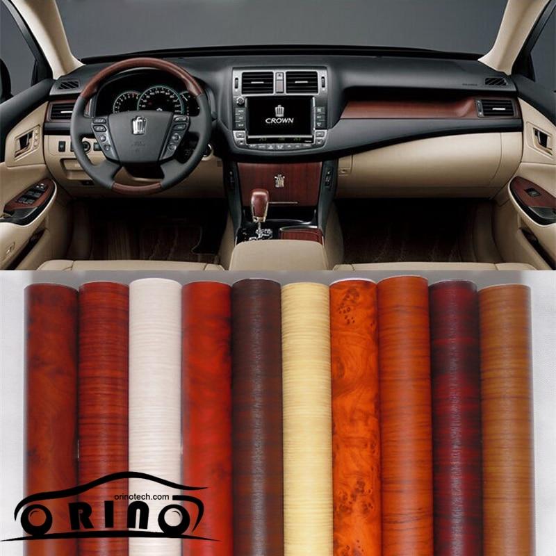 Размер: 1.24X5 0 м/рулон Виниловая пленка для древесины виниловая пленка для автомобиля без пузырьков для украшения интерьера
