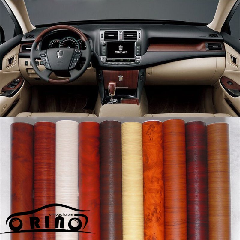 Size Wood Grain Vinyl Film Wood Vinyl Car Wrap Without Bubble Free For Interior