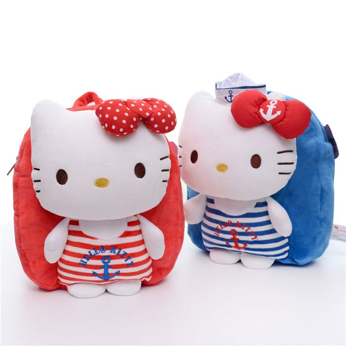 NEW!Free Shipping!Aoger Hello Kitty Navy Wind Plush Backpack/Children's Gifts/Birthday Gifts