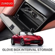 Schowek na rękawiczki ZUNDUO automatyczny przedział przechowywania dla MAZDA MX 5 RF MIATA 2015 2019 konsola do przechowywania Shuffle Box czarny centralny schowek