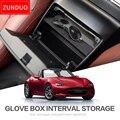 ZUNDUO бардачок с автоматическим интервалом хранения для MAZDA MX-5 RF MIATA 2015-2019 коробка для хранения консоли Shuffle черный центральный ящик для хранен...