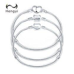Hengyi 5 Stil Gümüş Renk AŞK Yılan Zincir Bilezik ve Bileklik 17 CM-20 CM DIY Takı