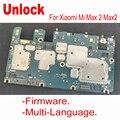 Разблокированная материнская плата для Xiaomi Mi Max 2 Max2  оригинальная глобальная прошивка  материнская плата с чипами  комплект аксессуаров цеп...
