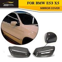 Стайлинга автомобилей углеродного волокна зеркало для замены крышки для BMW E53 X5 2000 2006