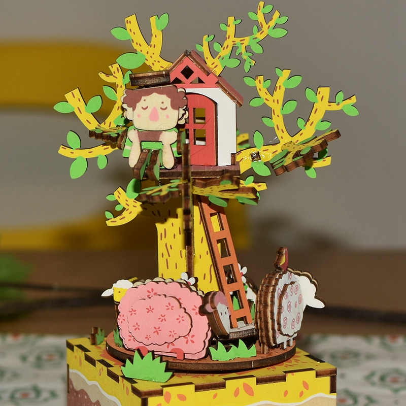 Robotime-DIY-Rotatable-Tree-House-Wooden-Music-Box-Hand-Clockwork-Type-Home-Decor-Beauty-Gift-for (3)