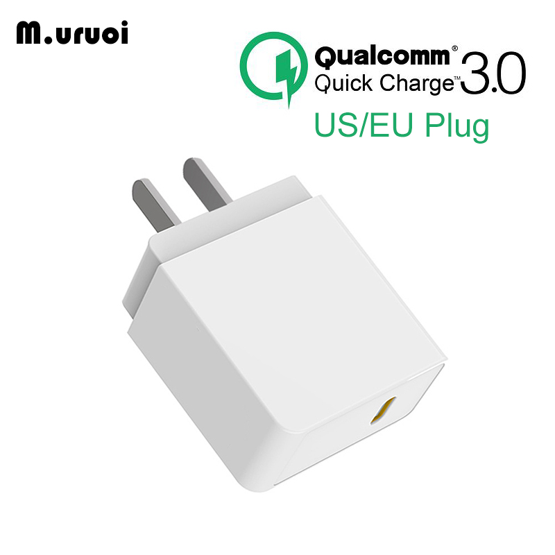 M.uruoi 18W Quick Charge 3.0 Fast EU Plug Charger For Mobile Phone US Plug Wall USB Charger Adapter For iPhone Samsung Huawei Зарядное устройство