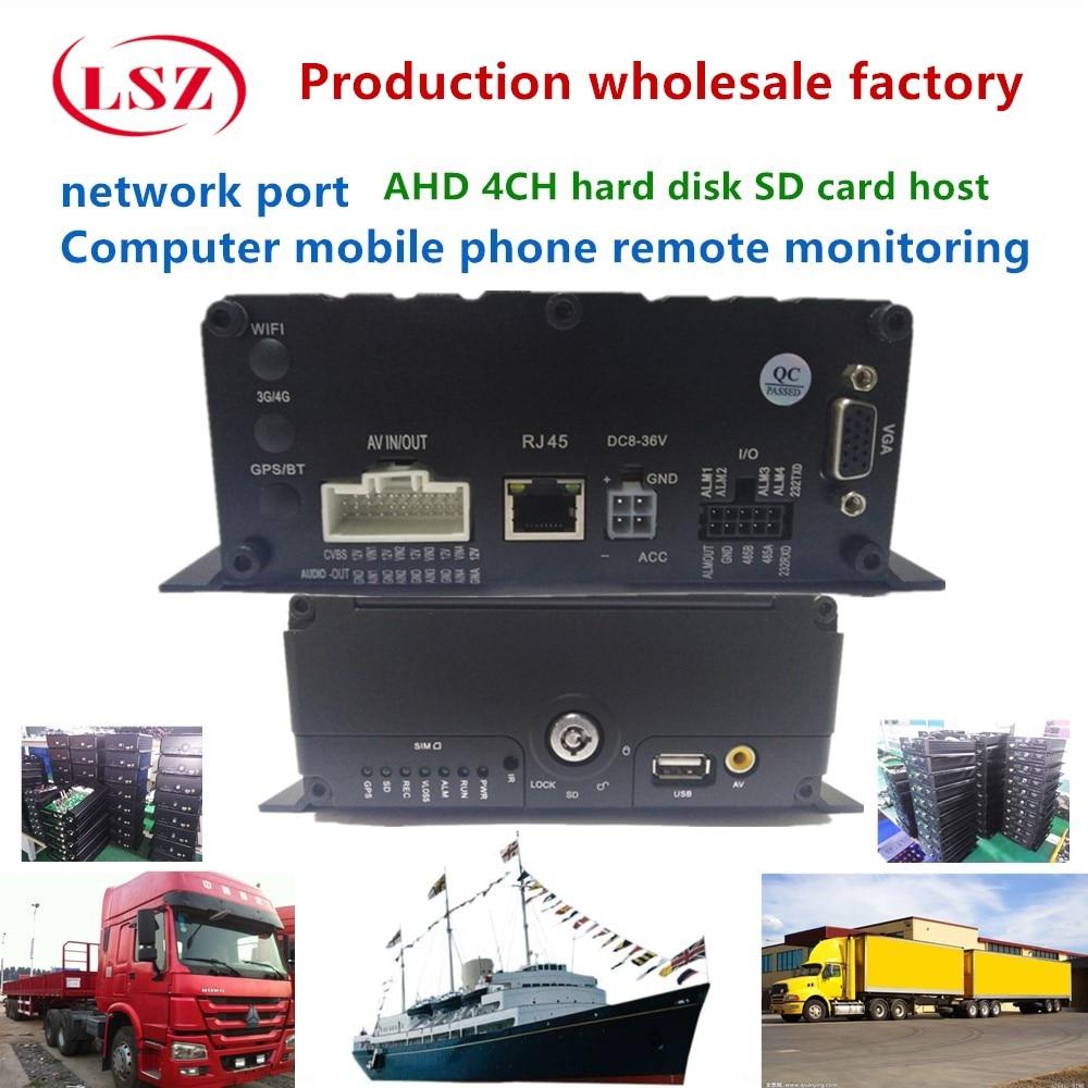 Kaynak fabrika 4CH HD sabit disk MDVR destekler 2 T sabit disk ve bir 256G SD kart ile uzaktan izlemeKaynak fabrika 4CH HD sabit disk MDVR destekler 2 T sabit disk ve bir 256G SD kart ile uzaktan izleme