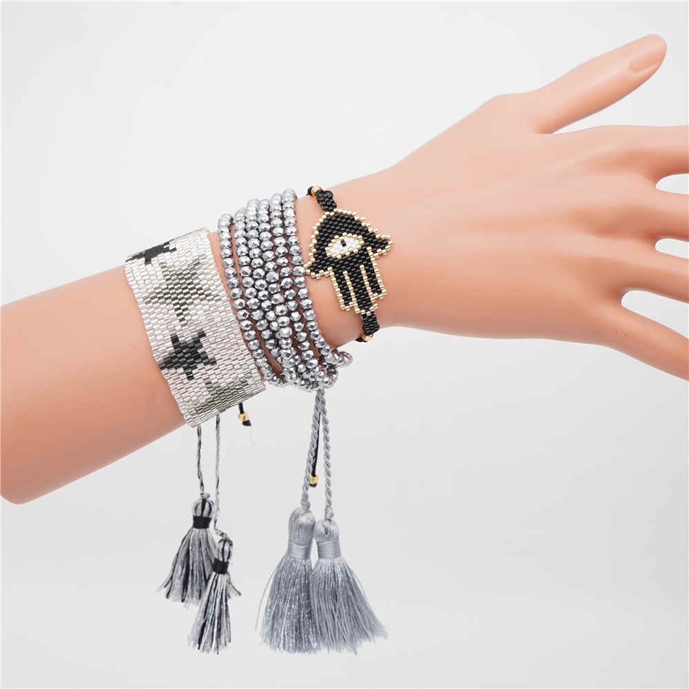 Shinus MIYUKI Bracelet Bead Loom Handwoven Bileklik Boho Chic Style Summer Jewelry Pulseras Mujer 2019 Handcrafted Jewels DIY in Charm Bracelets from Jewelry Accessories