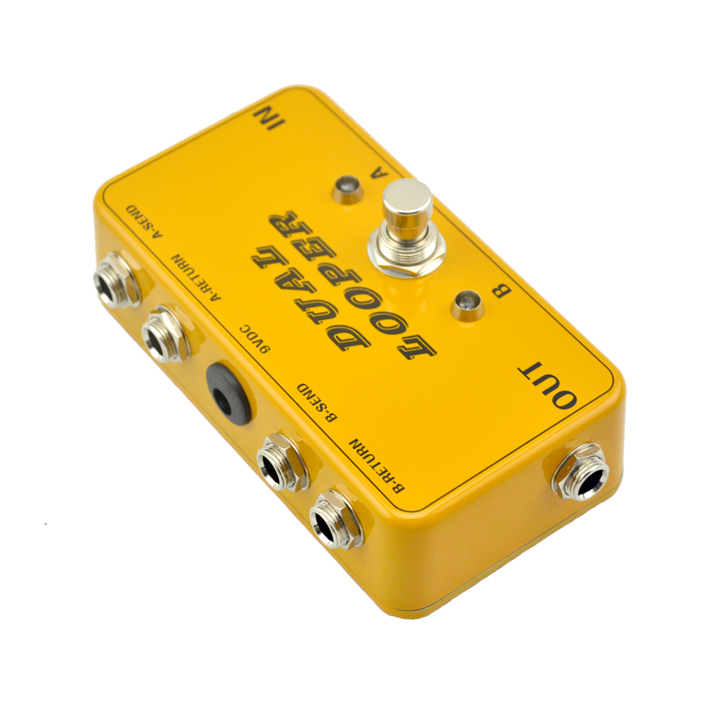 new ab looper effect pedal loop switcher true bypass for electric guitar pedal orange foot. Black Bedroom Furniture Sets. Home Design Ideas
