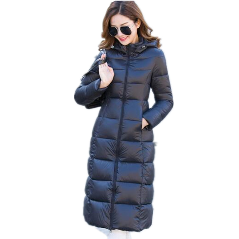 Womens Spring Winter Wadded Jackets And Coats Women Cotton Jacket Thick Warm Hooded Parka,Jaqueta Feminina,Long Jakcet C2282 стоимость