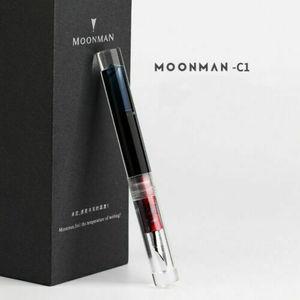 Image 4 - Moonman C1 PMMA 투명 투명 아크릴 만년필 F 펜촉 그립 색상 무작위로 편지지 사무 용품