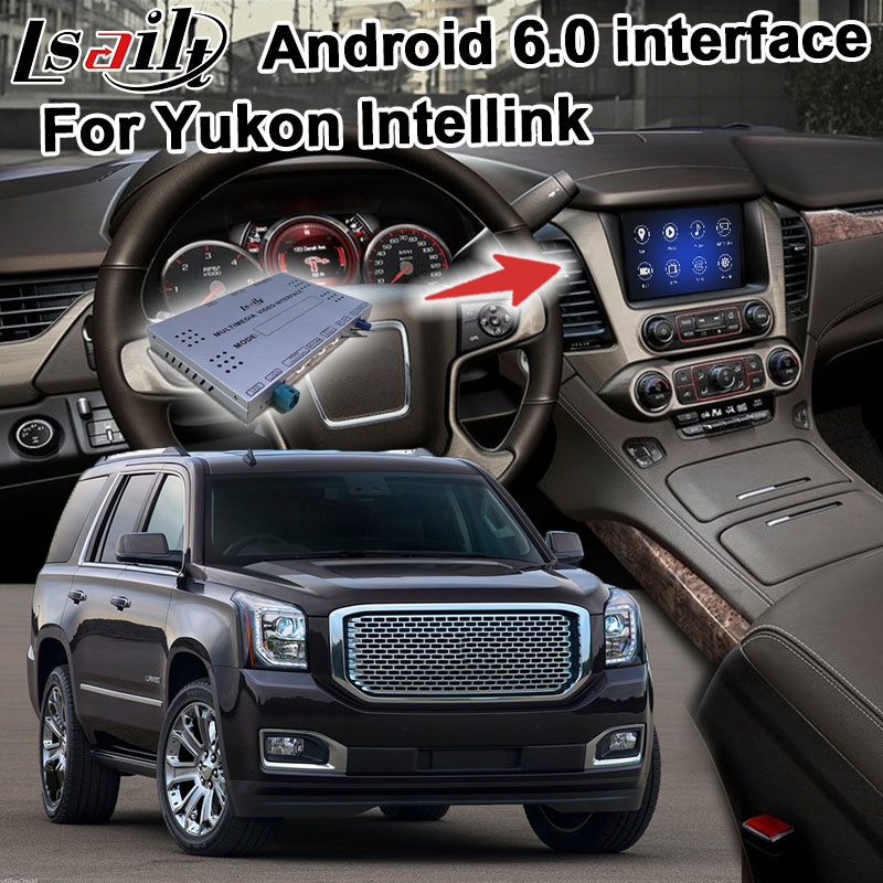 Android navigation box for GMC Yukon Sierra 2014 2017 etc video interface Mylink intellilink CUE system GPS with carplay