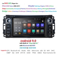 Car Multimedia player android 9.0 6.2Inch For Chrysler/300C/Dodge/Jeep/Commander/Compass/Grand Cherokee Radio GPS DVD USB CAMBUS