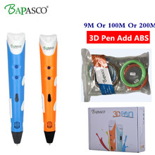 BAPASCO MR RP-100A Magic 3d printer pen Drawing 3D Pen With 3Color ABS filaments 3D Printing 3d pens for kids birthday present