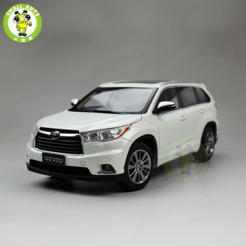 1:18 Toyota Highlander 2015 Diecast SUV Car Model White Color christine lavoiser parfums туалетная вода giorgio fellini voyage de nuit мужская 100 мл