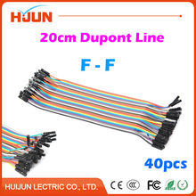 40pcs/lot Dupont Cable Jumper Wire Dupont Line Female to Female Length 20cm for Arduino