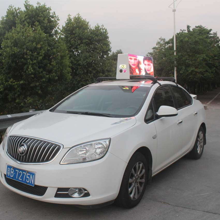 P3 double sizes digital car top led screen led taxi top display