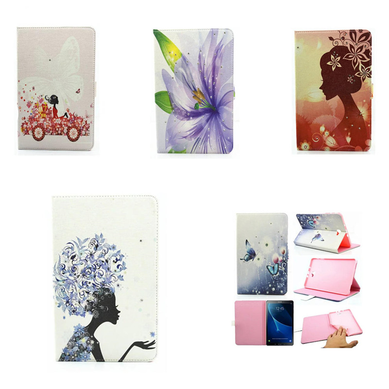 PU Leather Cute Case For Samsung Galaxy Tab A A6 10.1 2016 T580 SM-T585C T580N T585 Cases Cover Tablet Hand Holder Shell Funda fashion painted flip pu leather for samsung galaxy tab a 10 1 sm t580 t585 t580n 10 1 inch tablet smart case cover pen film