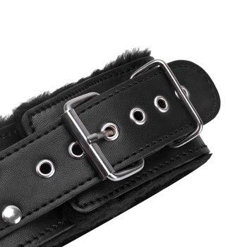 Bdsm Collar Leather And Leash Plush Fetish Bondage Sex Necklace SM Toys Restraints Sex Toys For Adults Women Men Couples Games 4