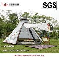 Индийский стиль Пирамида палатка Типи UNI 10ft двойная дверь Водонепроницаемая сетка Teepee Кемпинг Роскошная монгольская юрта семейная палатка