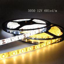 LED Strip 5m 12V SMD 5050 60led/m IP65 Waterproof For Indoor Bedroom Home TV backlight Decoration LED Ribbon Diode Tape lights