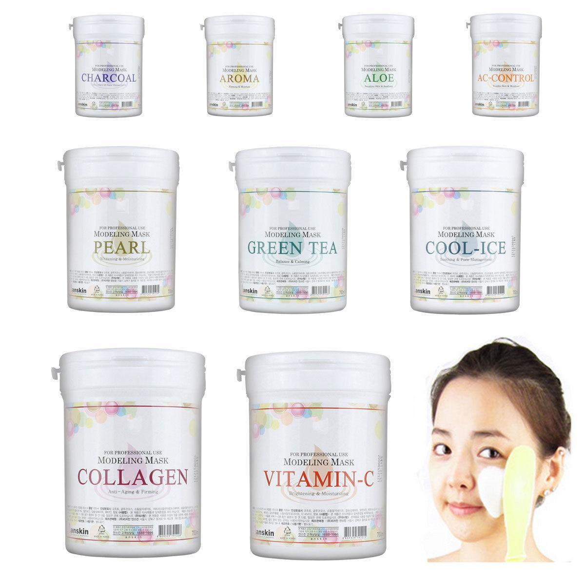 ZANABILI ANSkin Modeling Mask 700ml Face Care Skin Brightening Moisturizing Whitening Soothing Facial Mask Korean Face Mask 240g