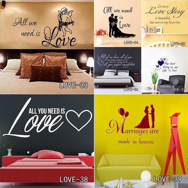 Love Bedroom Wall Stickers Decor Infinity Symbol Word Love Family ...