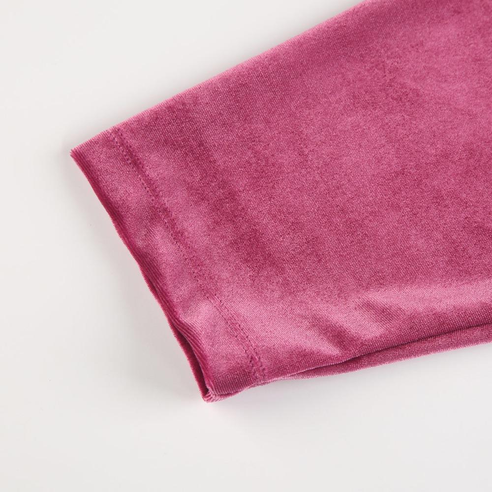 HDY Haoduoyi Women Purple Velvet Hoodies Long Sleeve Casual Sweatshirts Sweet Loose Pullovers 2017 Autumn Winter Tops Female new 13