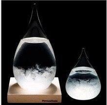 Krásný skleněný barometr 6X12 cm