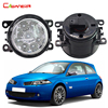 1 Pair Car Lamp LED Daytime Running Light Fog Light DRL 12V White Blue Orange For