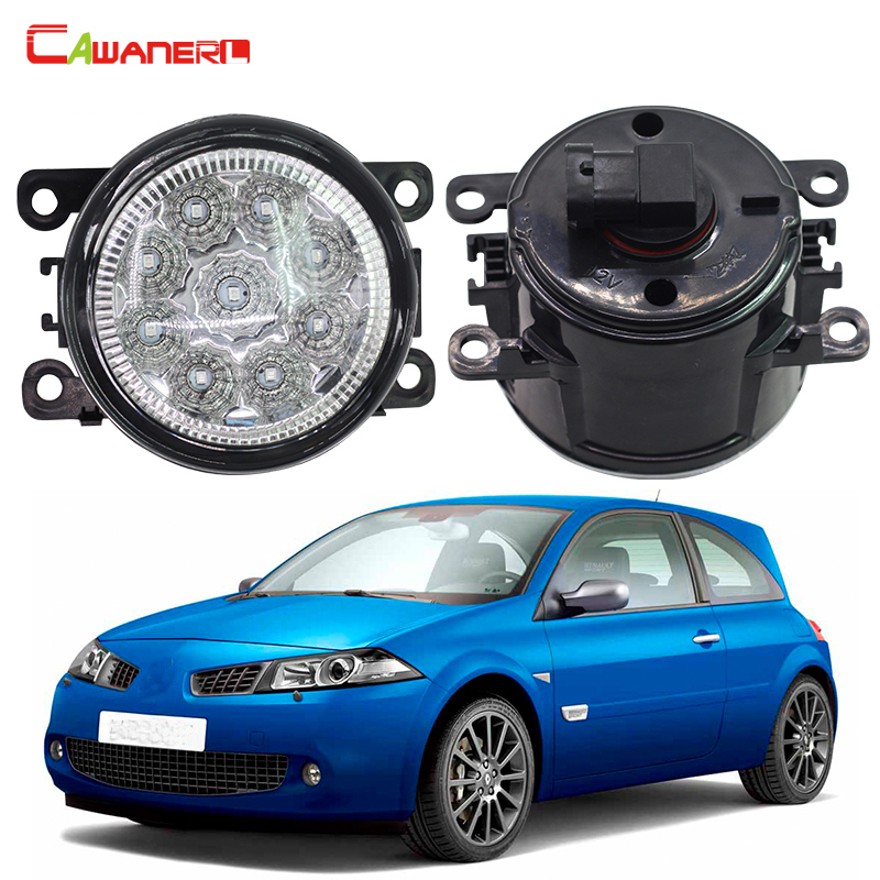 Cawanerl 1 Pair Car Lamp LED Daytime Running Light Fog Light DRL 12V For Renault Megane 2/II Saloon LM0 LM1 2003-2015 cawanerl 1 pair 100w h3 car led bulb 20 smd 2200lm white 6000k automotive fog light daytime running lamp headlight low beam drl