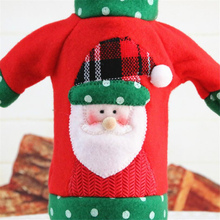 Christmas Decorations Wine Bottle Cover Bag Santa Claus Knitting Hats for New Year Xmas Home Dinner Party Decor
