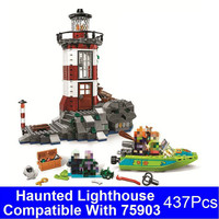 BELA 10431 Scooby Doo Haunted Lighthouse Building Blocks Lepin Bricks Figure Model Compatible 75903 Educational Toy