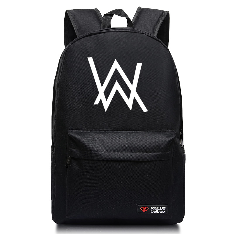 2017 Fashion Alan Walker Backpacks for Teenagers faded electronic Music school bags candy color mochila book bags alan walker