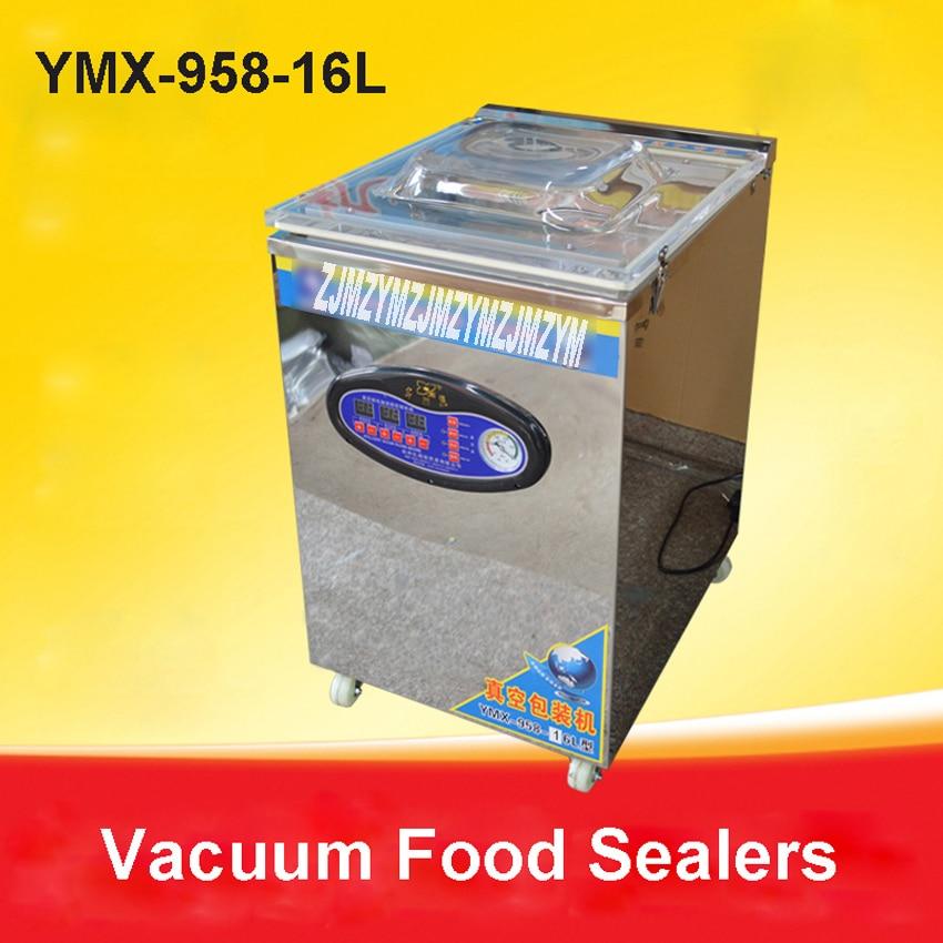 1 pc 20L alimentaire scelleur sous vide, machine à emballer sous vide chambre à vide, sacs en aluminium alimentaire riz thé machine de scellage sous vide