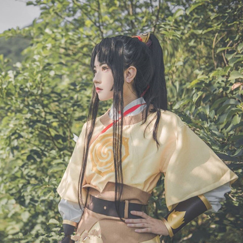 Mo Dao Zu Shi Jin Ling Cosplay Grandmaster of Demonic Cultivation Anime Cosplay Costume Gold Outfit Wig Shoes clothes