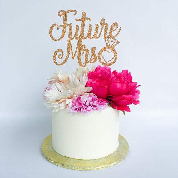 3fd9b8018fd Future Mrs Topper Bridal Shower Cake Topper Engagement Party Topper Bride  Cake Topper Birthday Party Decorations Party Supplies -in Cake Decorating  Supplies ...
