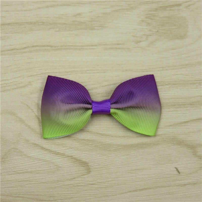 1 ชิ้นที่มีสีสันยืดหยุ่นวงผมสาวริบบิ้น Bows ผมวงกลม Tie เชือกผมอุปกรณ์เสริม Gradient วันหยุดที่ดีที่สุดของขวัญ