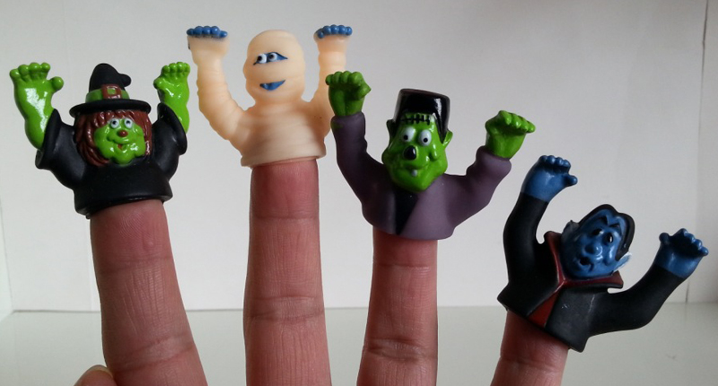 12x new halloween theme monster finger puppet toy party toys favors pinata stock loot bag fillers fun toy for kids gifts give