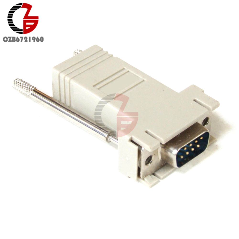 Hot Item Db9 Rs232 Male To Rj45 Female M F Module Adapter Connector Wiring Convertor Extender