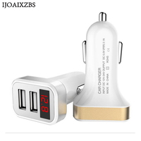 Dual USB Car Charger Quick Voltage And Current LED Display DC12-24V 5A input 2A output car charger for Driving Recorder