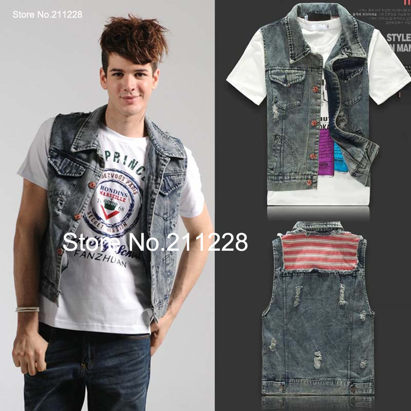 Popular Mens Blue Denim Vest-Buy Cheap Mens Blue Denim Vest lots ...