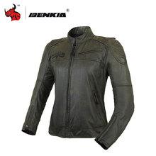 BENKIA Gray Women's Motorcycle Jackets Spring Summer Racing Suit Jaqueta Motocicleta Moto Racing Vintga Jacket