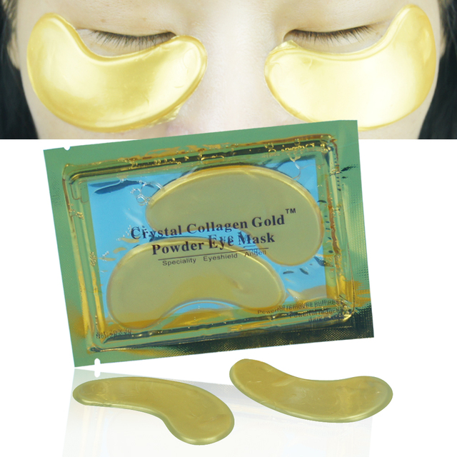Природный Кристалл Коллаген Золотой Порошок Eye Mask Anti-Aging Уход За Кожей Лица Спящая Глаз Патчи Устраняет Темные Круги И Штраф линии
