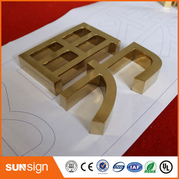 Aliexpress stainless steel 3D letters signage metal advertising signs