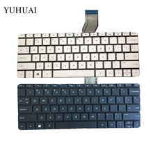 New US laptop Keyboard for HP stream 11-d 11-d011wm 11-D010WM English white and black no frame(China)