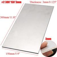 300X150X3mm Thick Titanium 6al 4v Sheet Grade Plate Titanium Metal Sheet Plate Silver Metalwoking Craft Titanium new
