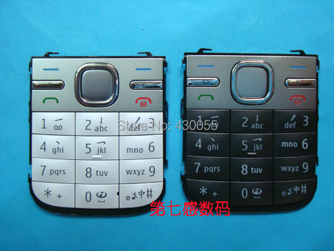 Black/White/Grey New <font><b>Housing</b></font> Main Home Function Keyboards Keypads Cover Case For <font><b>Nokia</b></font> <font><b>C5</b></font>, Free Shipping image