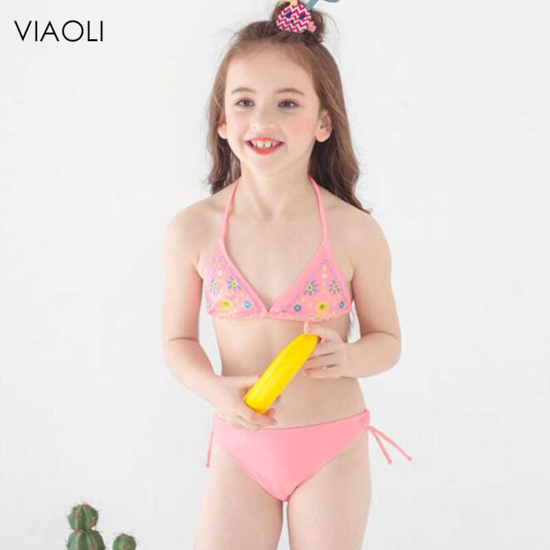 ee9dc321540e8 ... Baby Girls Tankini Bikini Set Swimwear Bathing Suit Beachwear HOT Cute  Small Fresh Printing Two- ...